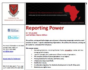 POWER JOURNALISM FLYER