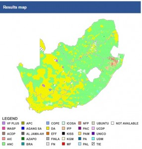 iec 2014 election results map