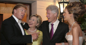 trump hillary and bill