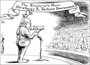 zuma cartoon as naked emperor